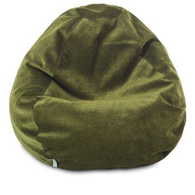 Micro Velvet Bean Bag Chair Color: Fern