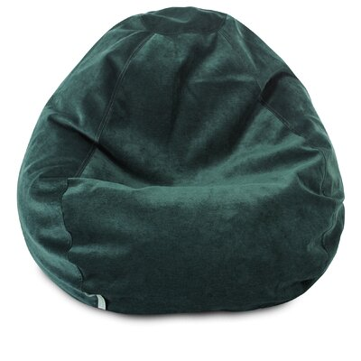 Micro Velvet Bean Bag Chair Color: Marine
