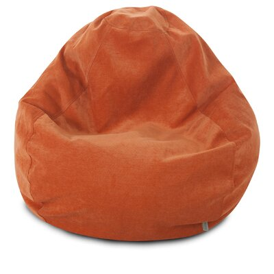 Micro Velvet Bean Bag Chair Color: Orange
