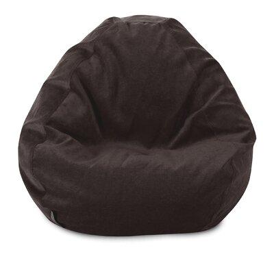 Micro Velvet Bean Bag Chair Color: Storm
