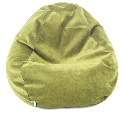 Micro Velvet Bean Bag Chair Color: Apple - Green