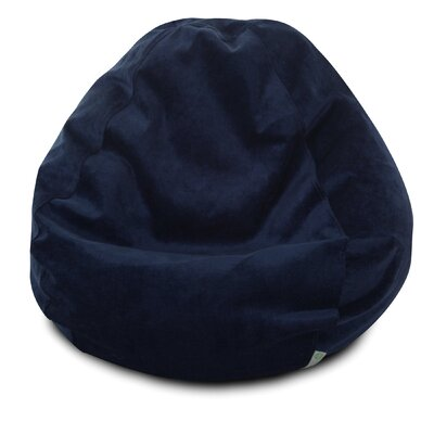Micro Velvet Bean Bag Chair Color: Navy