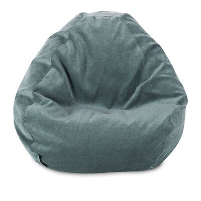 Micro Velvet Bean Bag Chair Color: Azure