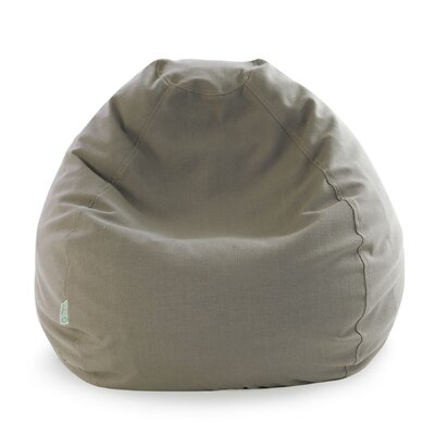 Micro Velvet Bean Bag Chair Color: Gray