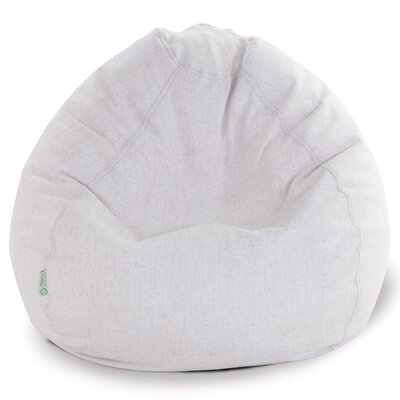 Micro Velvet Bean Bag Chair Color: Magnolia