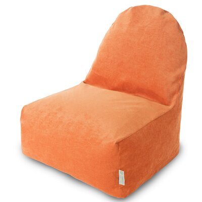 Classic Bean Bag Lounger Upholstery: Orange