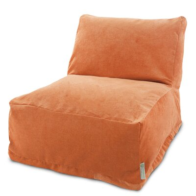 Zipped Bean Bag Lounger Upholstery: Orange