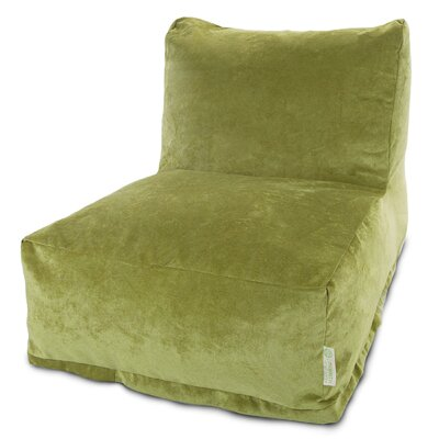 Zipped Bean Bag Lounger Upholstery: Apple - Green