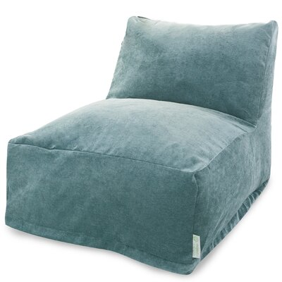 Zipped Bean Bag Lounger Upholstery: Azure