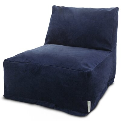 Zipped Bean Bag Lounger Upholstery: Navy