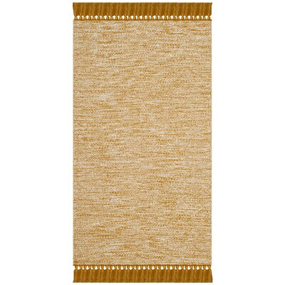 Zyra Hand-Woven Gold/Gray Area Rug Rug Size: Rectangle 23 x 39