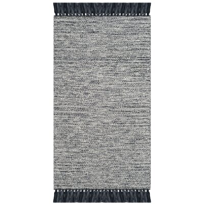 Zyra Hand-Woven Gray Area Rug Rug Size: Rectangle 3 x 5