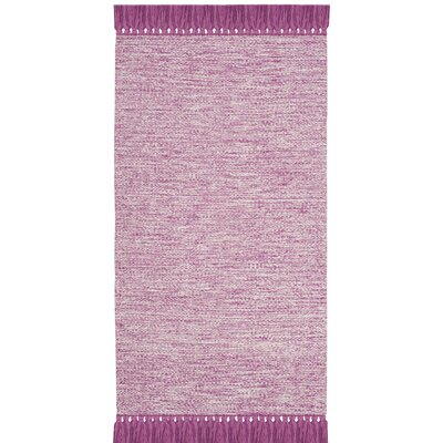 Zyra Hand-Woven Pink/Gray Area Rug Rug Size: Rectangle 23 x 39