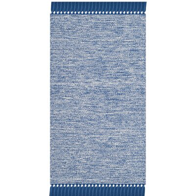 Zyra Hand-Woven Blue/Gray Area Rug Rug Size: Rectangle 3 x 5