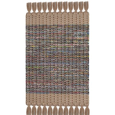 Abner Hand-Woven Beige/Gray Area Rug Rug Size: Rectangle 3 x 5