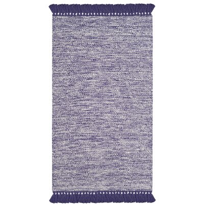 Zyra Hand-Woven Purple/Gray Area Rug Rug Size: 3 x 5