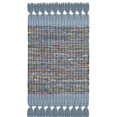 Abner Hand-Woven Blue/Gray Area Rug Rug Size: Rectangle 2 x 3