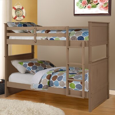 Leann Twin Bunk Bed Color: Walnut