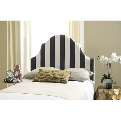 Ricardo Twin Upholstered Panel Headboard Upholstery: Black / White
