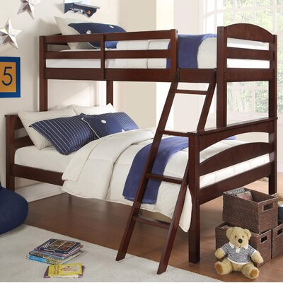 Sienna Rose Twin over Full Bunk Bed Finish: Espresso
