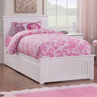 Platform Bed with Trundle Size: Twin, Finish: White