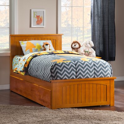 Bermuda Platform Bed with Trundle Size: Twin, Color: Caramel Latte