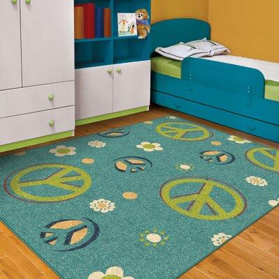 Rachael Peace Blue/Green Area Rug Rug Size: 310 x 55