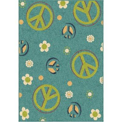 Lakisha Blue/Green Area Rug Rug Size: 65 x 98