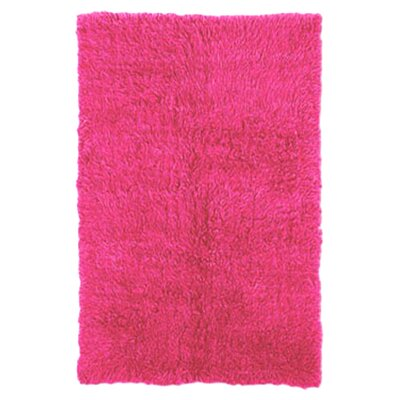 Kathleen Hand-Woven Fuchsia Area Rug Rug Size: Rectangle 36 x 56