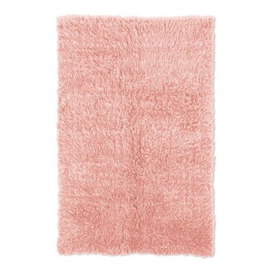 Kathleen Flokati Hand-Woven Pink Kids Rug Rug Size: 36 x 56