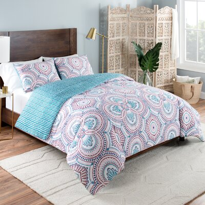 Skylar Reversible Comforter Set Size: King