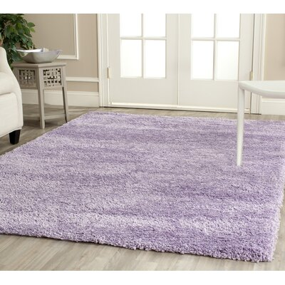 Ariel Lilac Shag Area Rug Rug Size: Rectangle 4 x 6