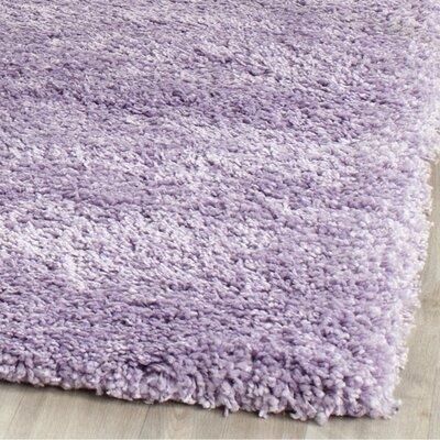 Ariel Lilac Shag Area Rug Rug Size: 8 x 10