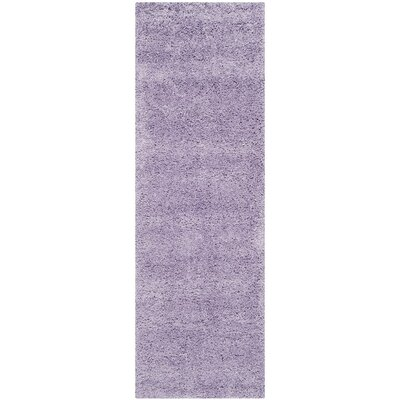Ariel Lilac Shag Area Rug Rug Size: Runner 23 x 11