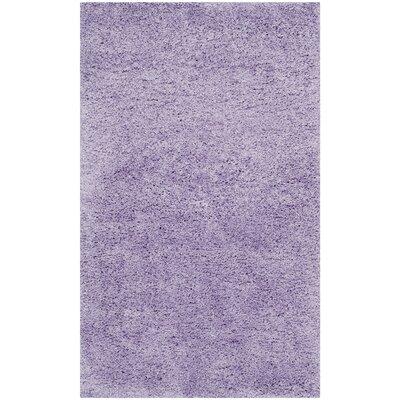 Ariel Lilac Shag Area Rug Rug Size: 3 x 5