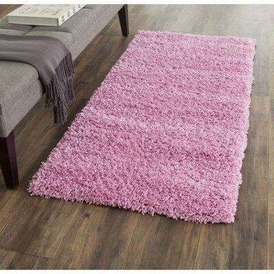 Ariel Pink Indoor Area Rug Rug Size: Runner 23 x 5