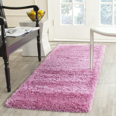 Ariel Pink Area Rug Rug Size: Runner 23 x 5