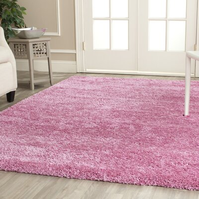 Ariel Pink Area Rug Rug Size: Square 67