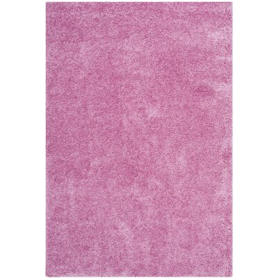 Ariel Pink Area Rug Rug Size: Rectangle 4 x 6