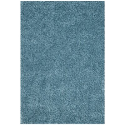 Ariel Light Blue Area Rug Rug Size: 53 x 76