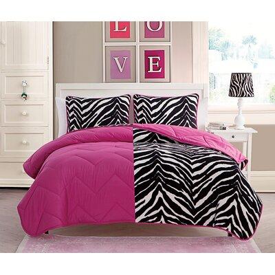 Tanisha 2 Piece Reversible Comforter Set Color: Pink
