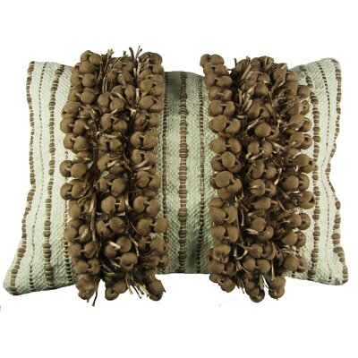 Huntsville Lumbar Pillow Size: 14 x 20, Color: Ivory/Rugby Tan