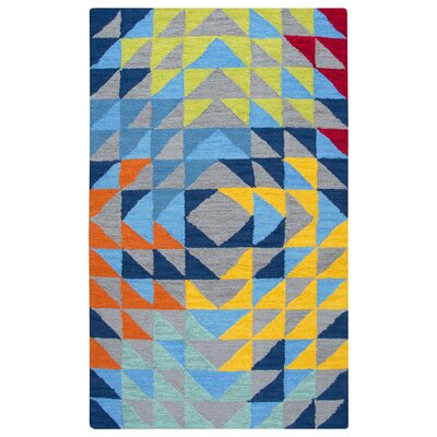 Raquel Hand-Tufted Gray/Blue Kids Rug Rug Size: 3 x 5