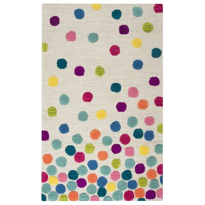 Raquel Hand-Tufted Blue/Green Kids Rug Rug Size: Rectangle 3' x 5'