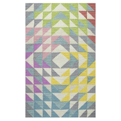 Raquel Hand-Tufted Gray/Green Kids Rug Rug Size: 3 x 5