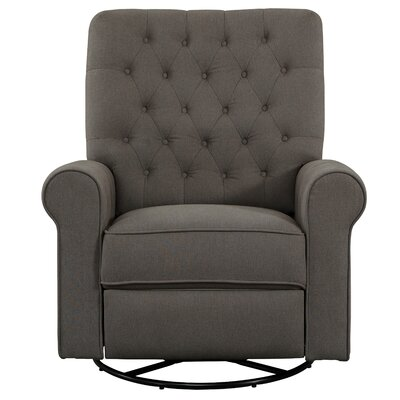 Alison Traditional Roll Arm Swivel Recliner