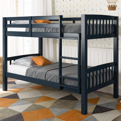Nicholson Twin Bunk Bed Color: Navy Blue