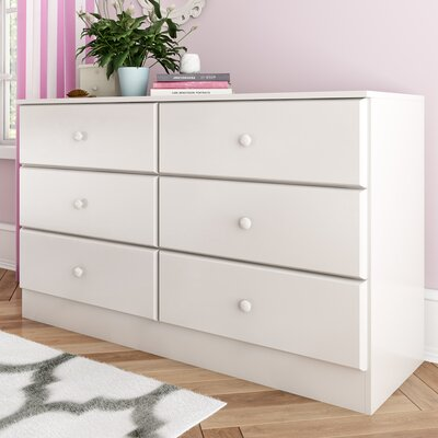 Bailey 6 Drawer Dresser Finish: White