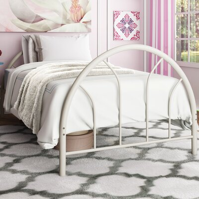 Makayla Twin Slat Bed Color: White