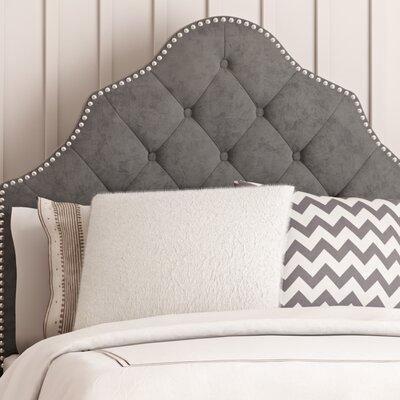 Isaac Twin Upholstered Panel Headboard Upholstery: Pewter